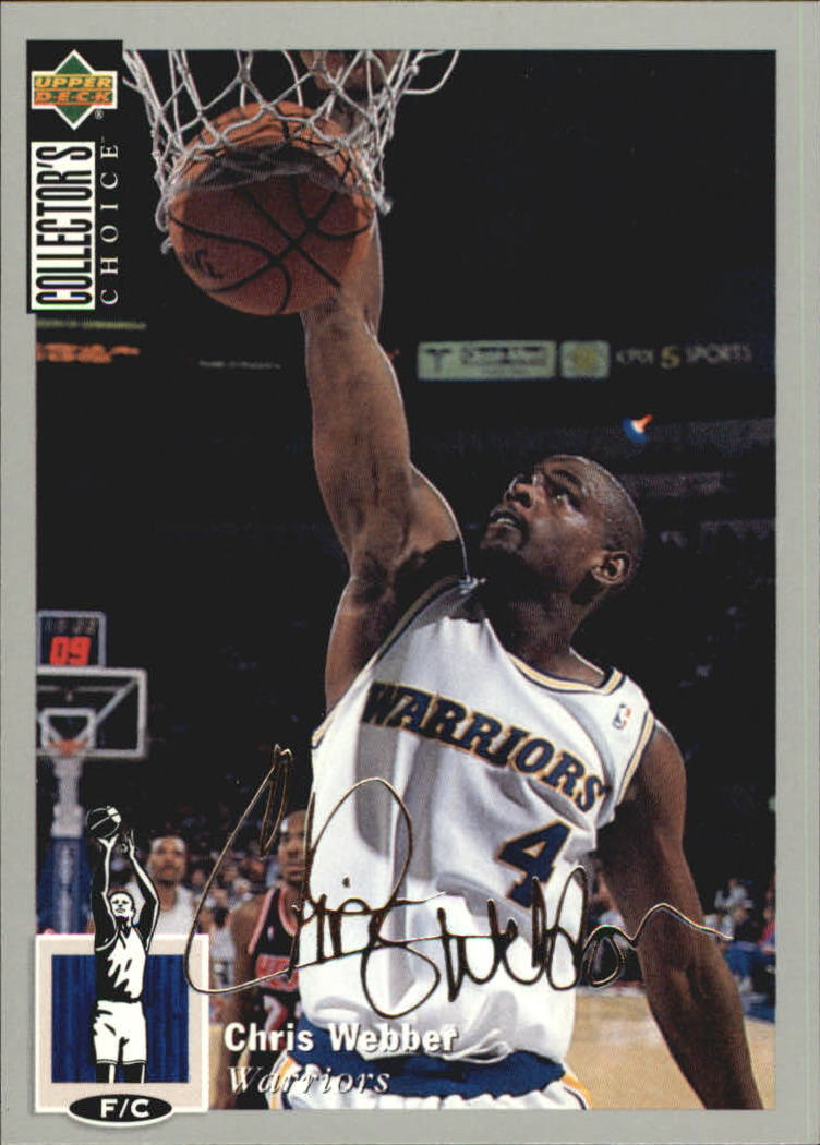 1994-95 Collector's Choice Silver Signature #4 Chris Webber