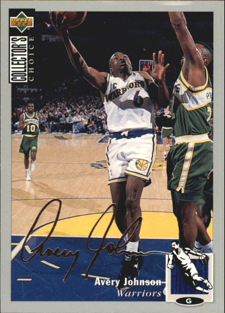 1994-95 Collector's Choice Silver Signature #6 Avery Johnson