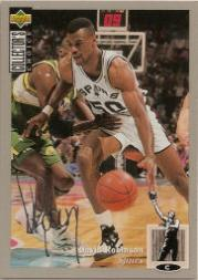 1994-95 Collector's Choice Silver Signature #50 David Robinson