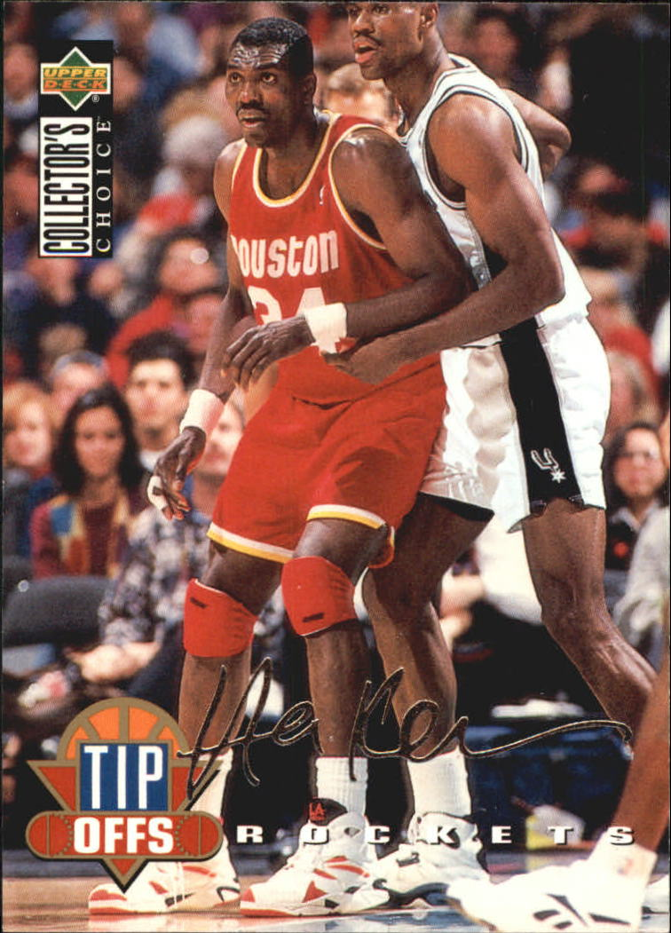 1994-95 Collector's Choice Silver Signature #175 Hakeem Olajuwon TO