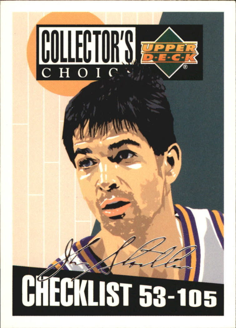 1994-95 Collector's Choice Silver Signature #208 John Stockton CL