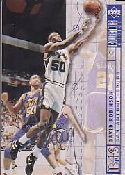 1994-95 Collector's Choice Silver Signature #395 David Robinson BP