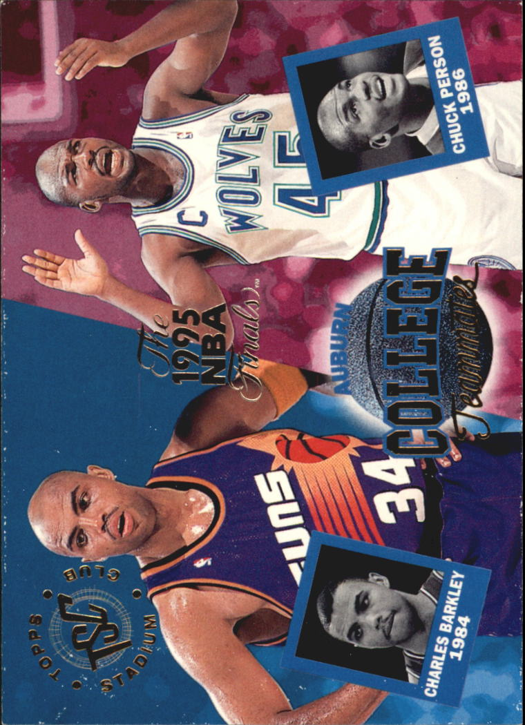 1994-95 Stadium Club Super Teams NBA Finals #101 Chuck Person CT/Charles Barkley CT