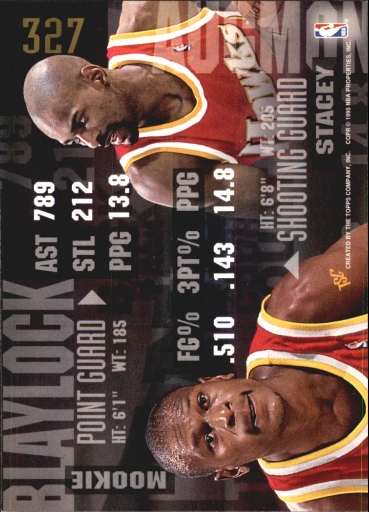 1994-95 Stadium Club Super Teams NBA Finals #327 Mookie Blaylock BCT/Stacey Augmon back image