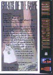 1995 Action Packed Hall of Fame Autographs #40 Bill Russell back image
