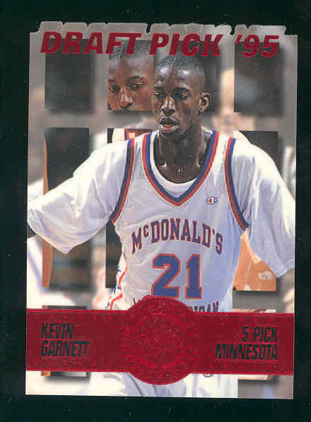 1995 Press Pass Die Cuts Blue #5 Kevin Garnett