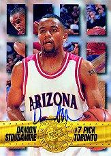 1995 Press Pass Autographs #5 Damon Stoudamire