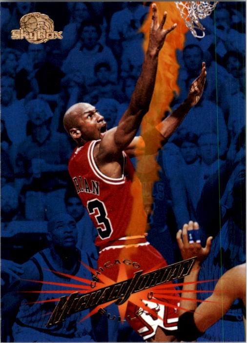 1995-96 SkyBox Premium #15 Michael Jordan UER/Career block total is wrong