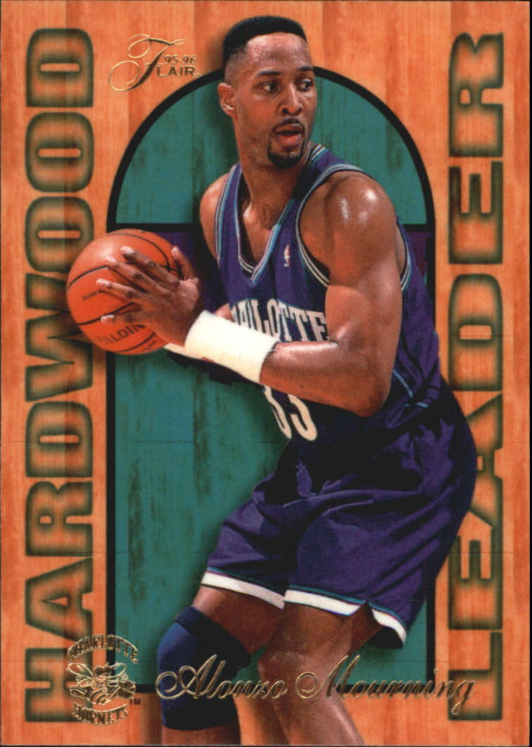 1995-96 Fleer Flair Hardwood Leaders #3 Alonzo Mourning