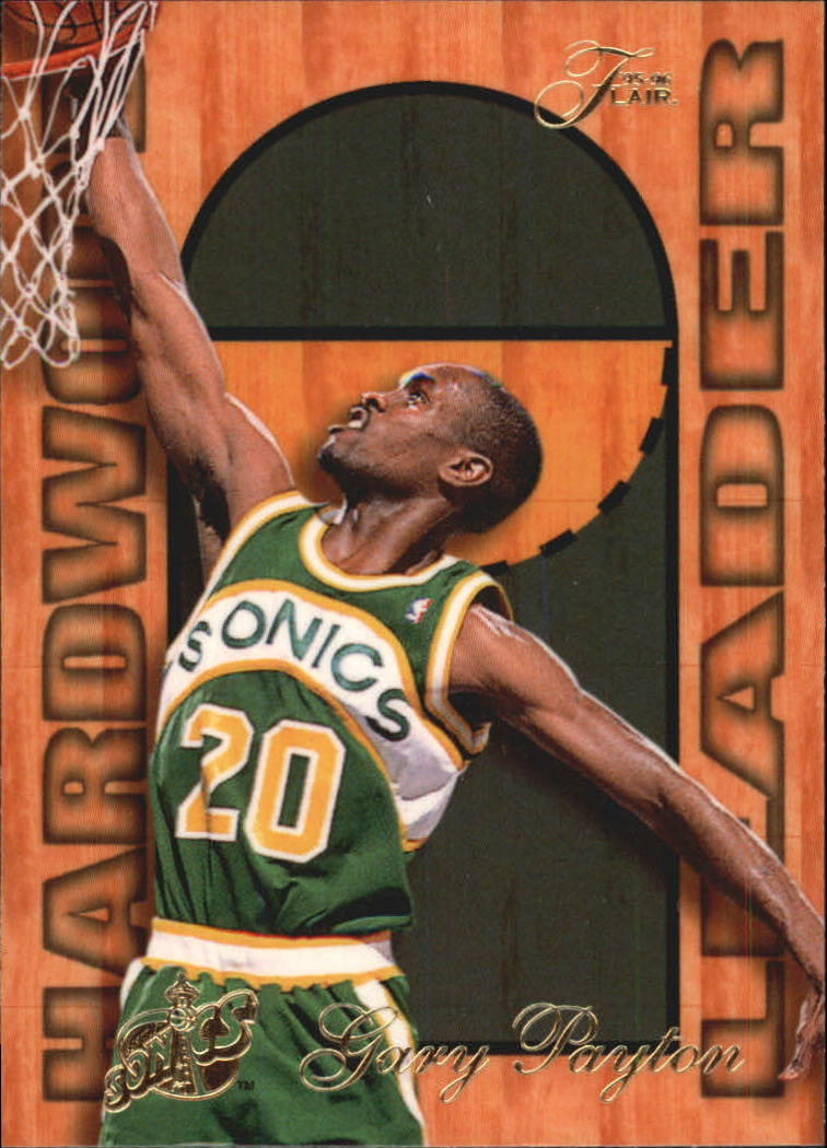 1995-96 Fleer Flair Hardwood Leaders #25 Gary Payton