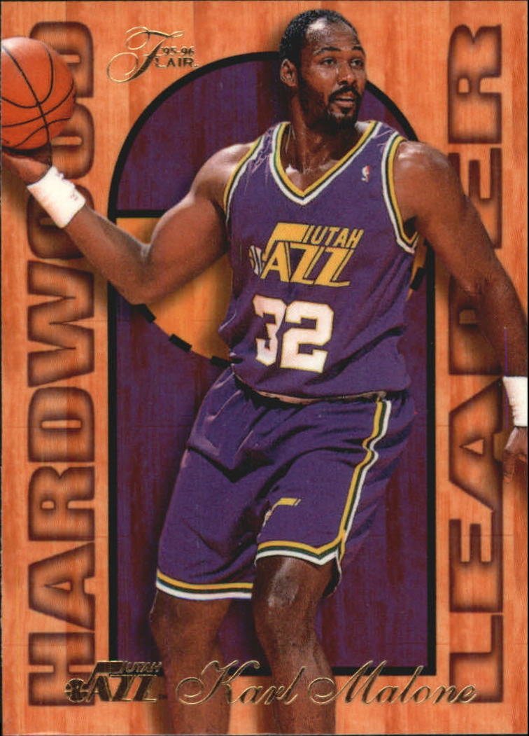 1995-96 Fleer Flair Hardwood Leaders #26 Karl Malone