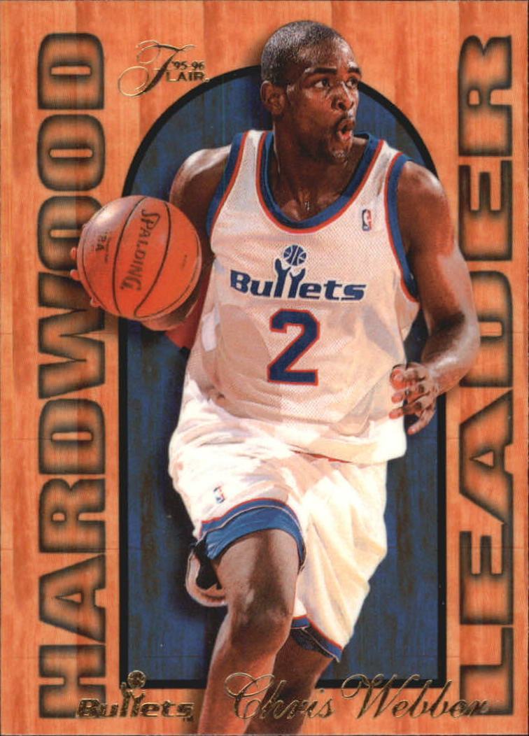1995-96 Fleer Flair Hardwood Leaders #27 Chris Webber