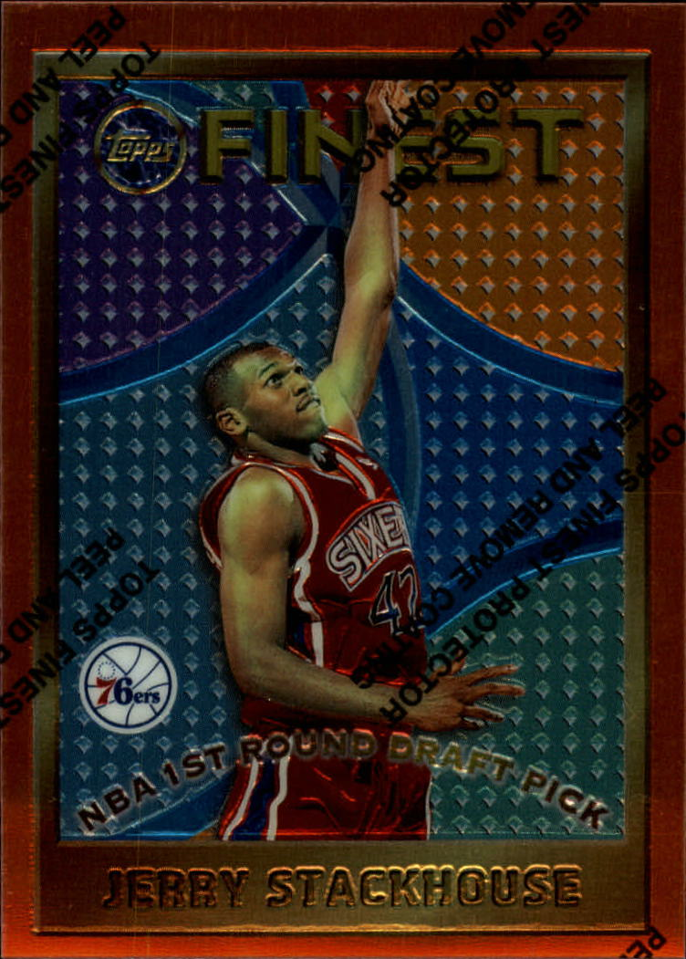 1995-96 Finest #113 Jerry Stackhouse RC