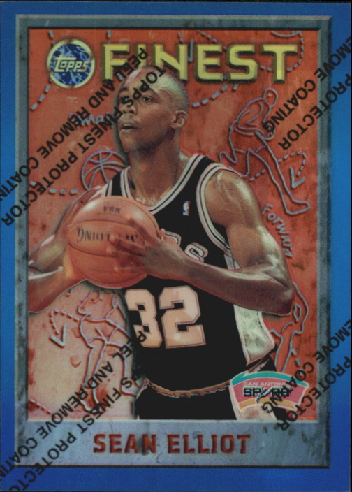 1995-96 Finest Refractors #11 Sean Elliott
