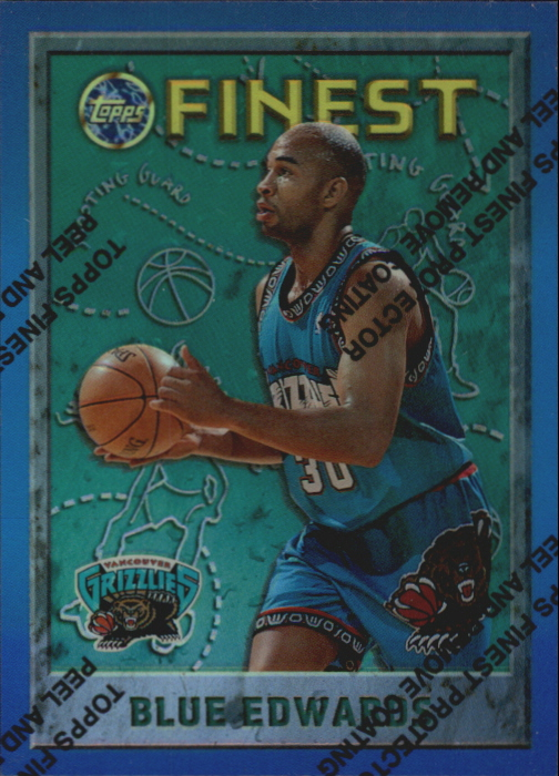 1995-96 Finest Refractors #158 Blue Edwards