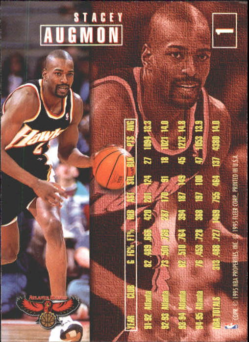 1995-96 Fleer #1 Stacey Augmon back image