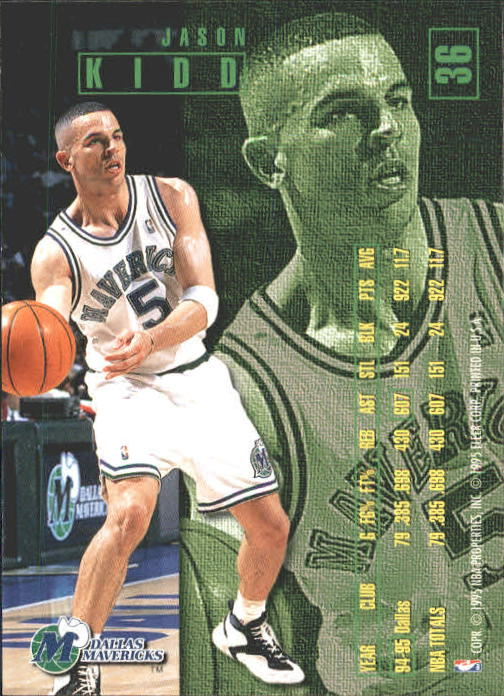 1995-96 Fleer #36 Jason Kidd back image