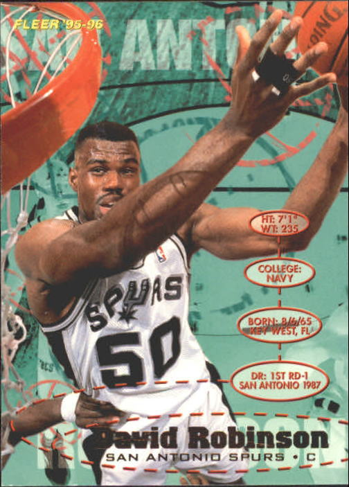 1995-96 Fleer #173 David Robinson