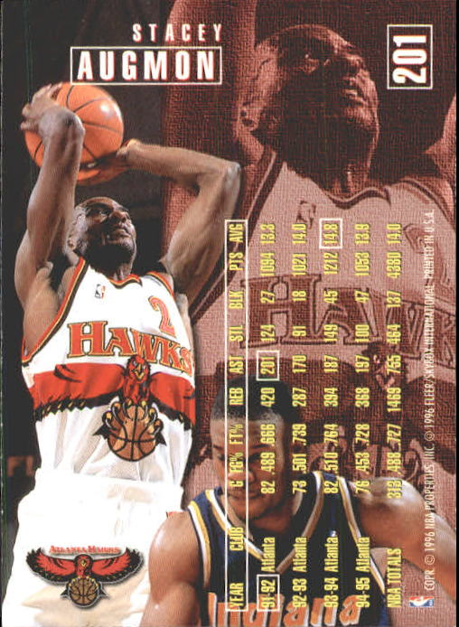 1995-96 Fleer #201 Stacey Augmon back image