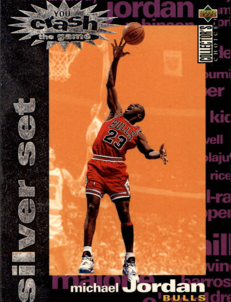 1995-96 Collector's Choice Crash the Game Assists/Rebounds Silver Redemption #C1 Michael Jordan