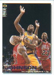1995-96 Collector's Choice Debut Trade #T1 Magic Johnson