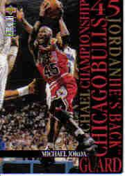 1995-96 Collector's Choice Jordan He's Back #M4 Michael Jordan/Playoffs versus Charlotte