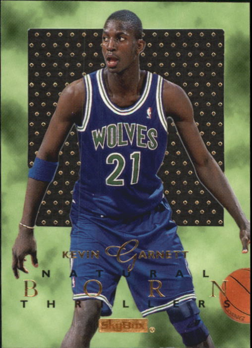 1995-96 E-XL Natural Born Thrillers #5 Kevin Garnett