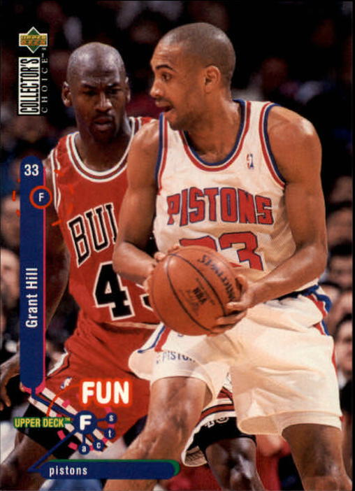 1995-96 Collector's Choice #173 Grant Hill FF/with Michael Jordan front image