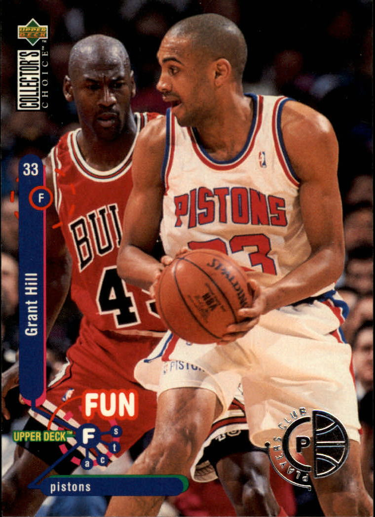 1995-96 Collector's Choice Player's Club #173 Grant Hill FF/with Michael Jordan