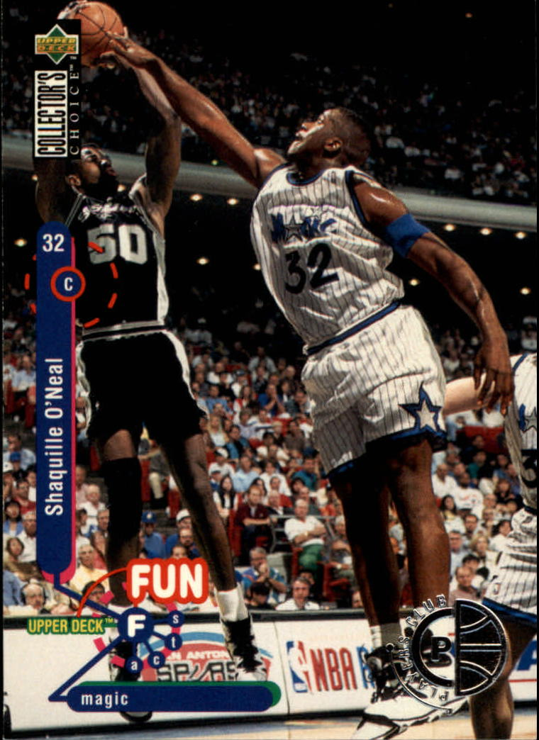 1995-96 Collector's Choice Player's Club #184 Shaquille O'Neal FF front image