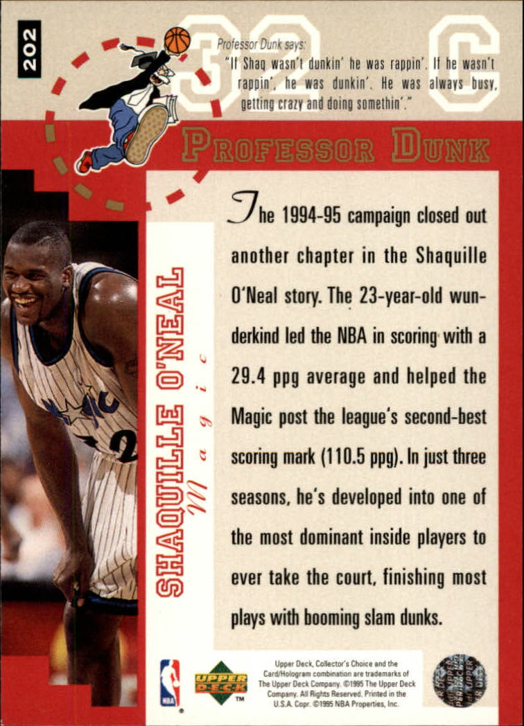 1995-96 Collector's Choice Player's Club #202 Shaquille O'Neal PD