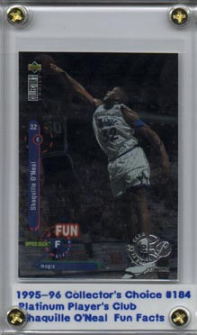 1995-96 Collector's Choice Player's Club Platinum #184 Shaquille O'Neal FF