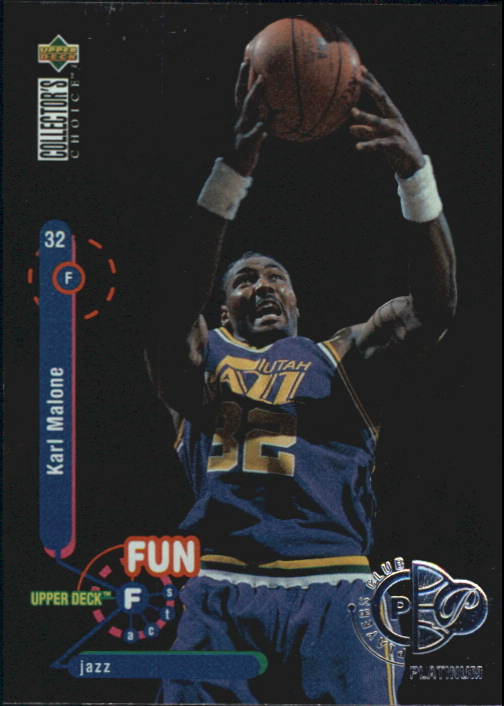 1995-96 Collector's Choice Player's Club Platinum #192 Karl Malone FF