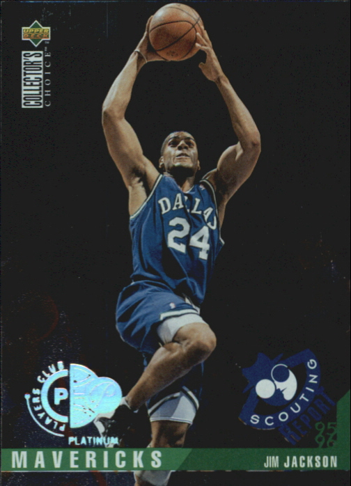 1995-96 Collector's Choice Player's Club Platinum #326 Jim Jackson SR