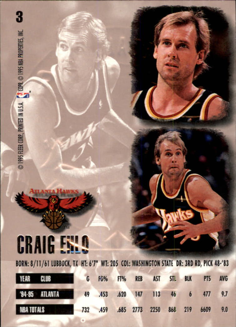 1995-96 Ultra Gold Medallion #3 Craig Ehlo back image