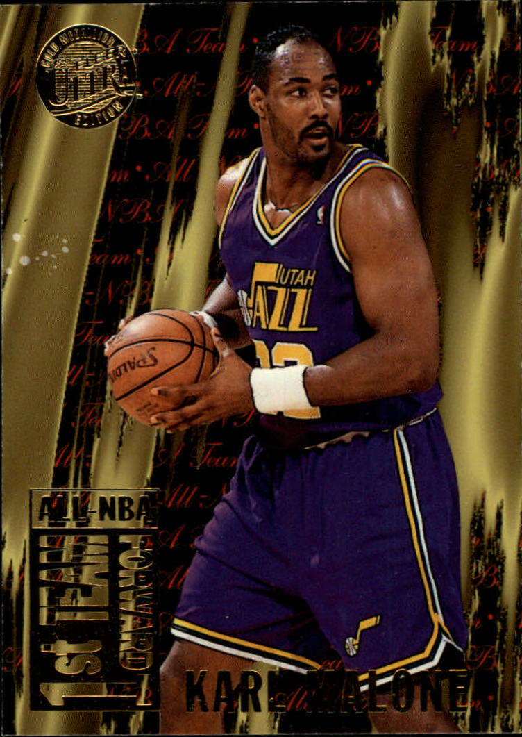 1995-96 Ultra All-NBA Gold Medallion #2 Karl Malone