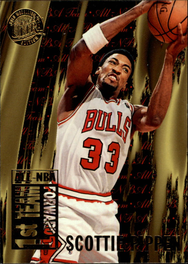 1995-96 Ultra All-NBA Gold Medallion #3 Scottie Pippen