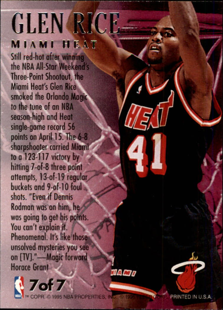 7 Fabulous Hair Magazines You Ve Got To Flip Through Hair: 1995-96 (HEAT) Ultra Fabulous Fifties #7 Glen Rice