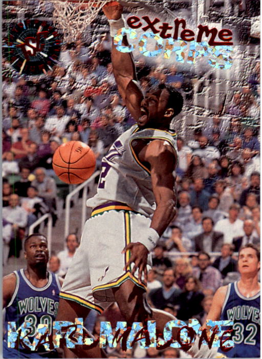 1995-96 Stadium Club #127B Karl Malone EC Blue