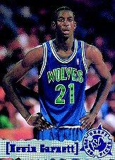 1995-96 Stadium Club #343 Kevin Garnett RC