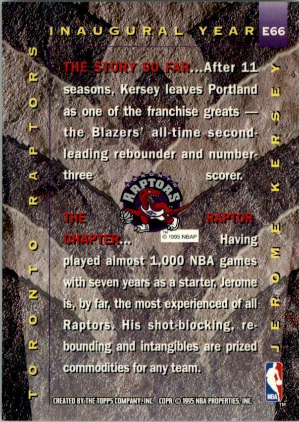 1995-96 Stadium Club #66R Jerome Kersey EXP Red