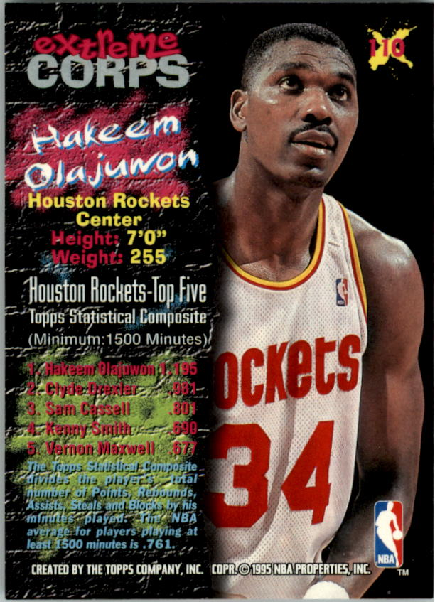 1995-96 Stadium Club #110R Hakeem Olajuwon EC Red
