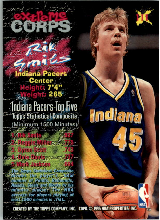 1995-96 Stadium Club #111R Rik Smits EC Red