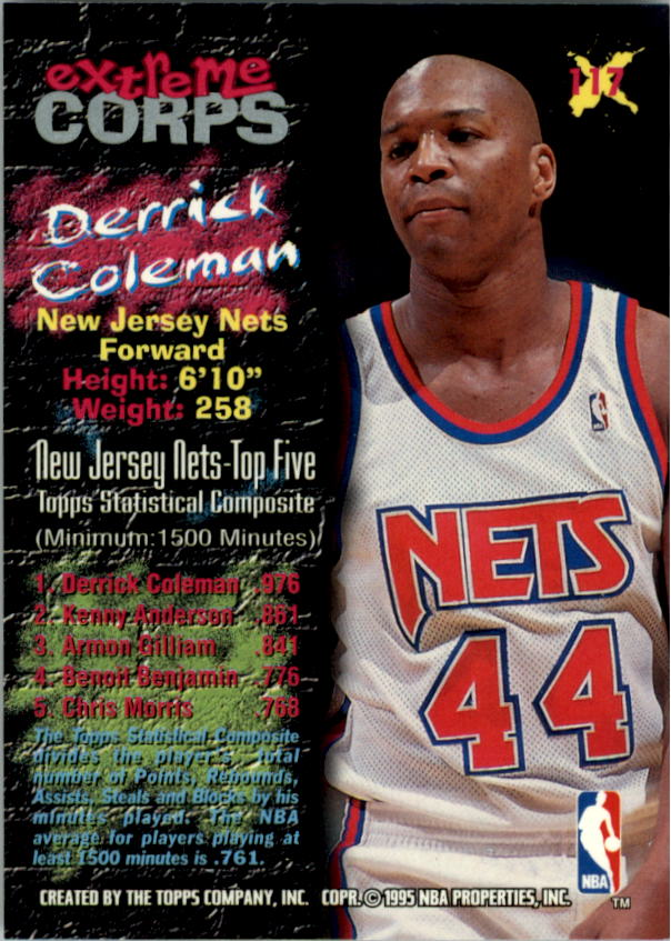 1995-96 Stadium Club #117R Derrick Coleman EC Red