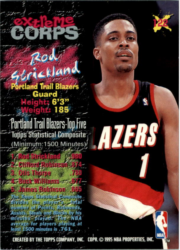 1995-96 Stadium Club #122R Rod Strickland EC Red
