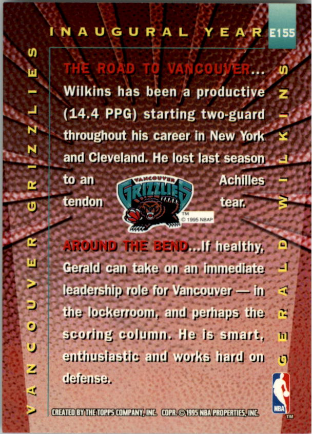 1995-96 Stadium Club #155R Gerald Wilkins EXP Red