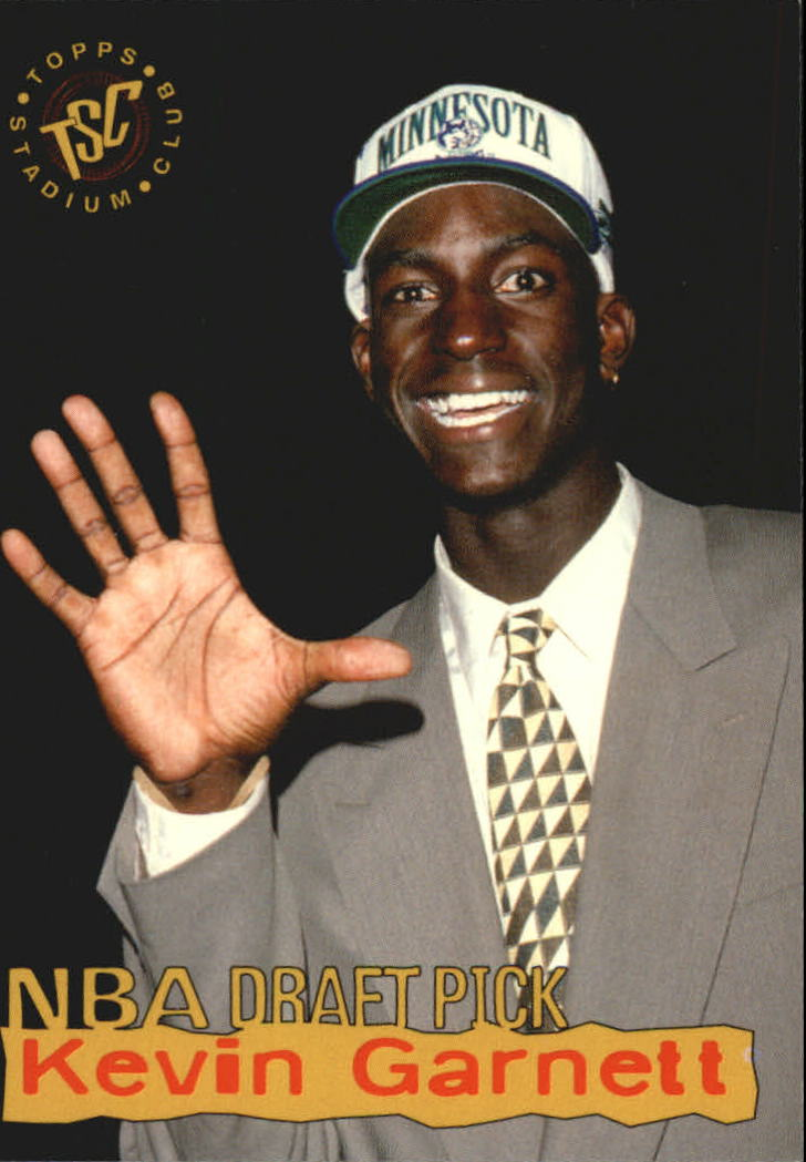 1995-96 Stadium Club Draft Picks #5 Kevin Garnett