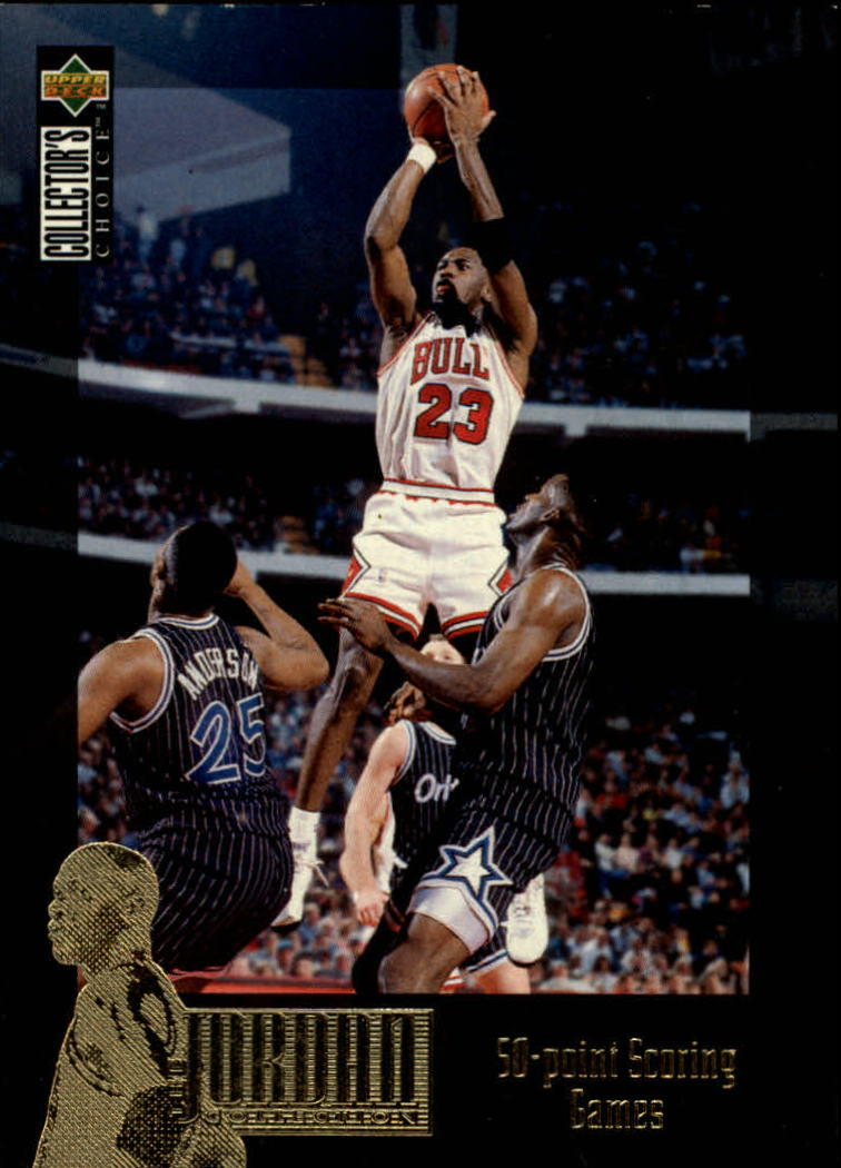 1995-96 Collector's Choice Jordan Collection #JC10 Michael Jordan/50 Point Games
