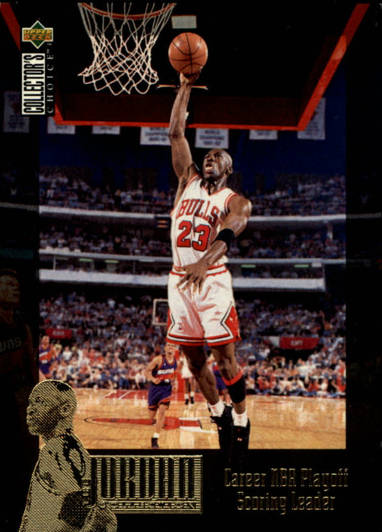 1995-96 Collector's Choice Jordan Collection #JC11 Michael Jordan/Career NBA Playoff SL
