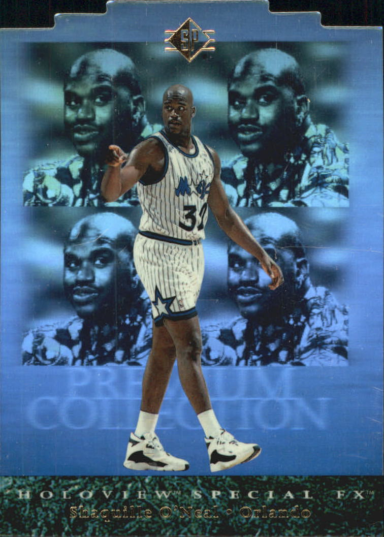 1995-96 SP Holoviews Die Cuts #PC25 Shaquille O'Neal